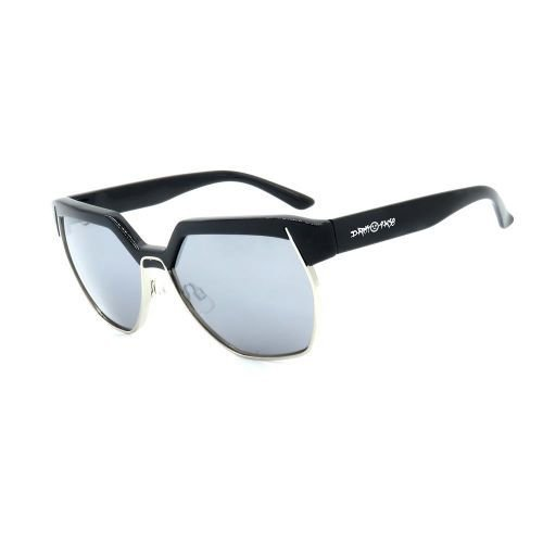 Óculos de Sol Dark Face Preto Fosco com Lente Espelhada - B88-1255