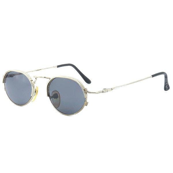 Óculos de Sol Titânia Retrô Dourado