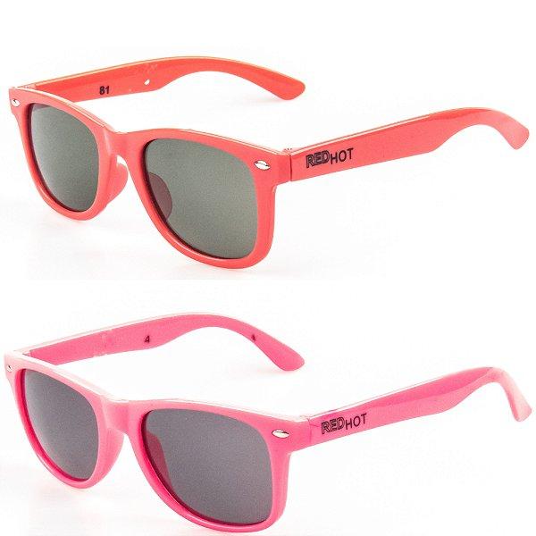Kit de 2 Óculos de Sol Infantil RedHot Quadrado vermelho e Rosa