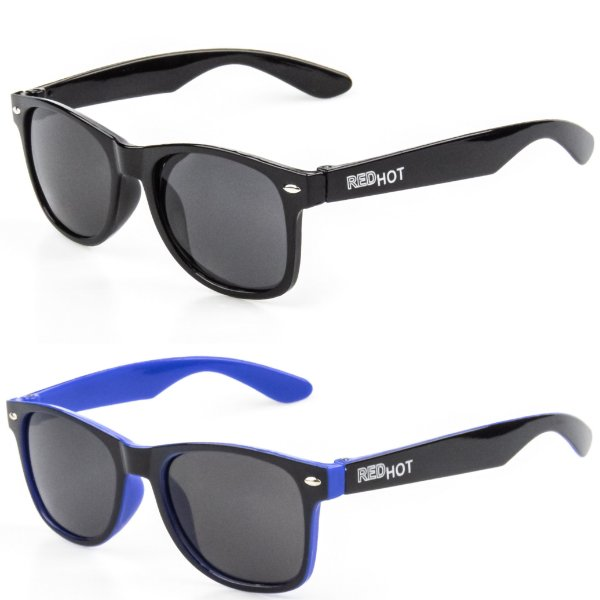 Kit de 2 Óculos de Sol Infantil RedHot Quadrado Preto