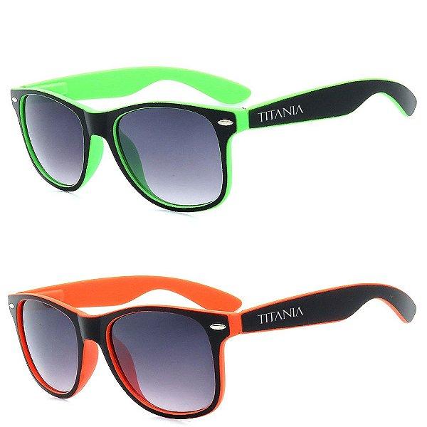 Kit 2 Óculos de Sol Homem Titânia Quadrado