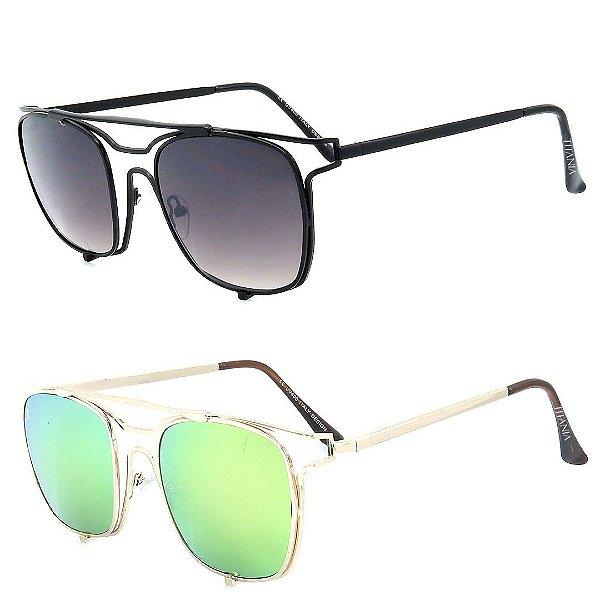 Kit 2 Óculos de Sol Mulher Titânia Quadrado