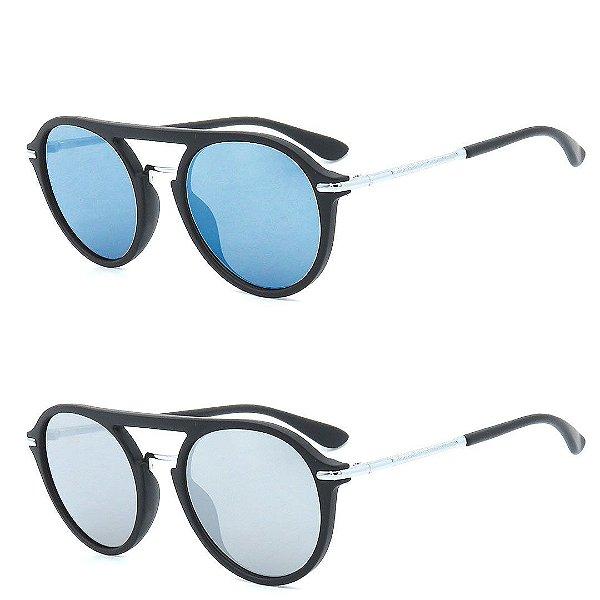 Kit 2 Óculos de Sol Homem Titânia Redondo