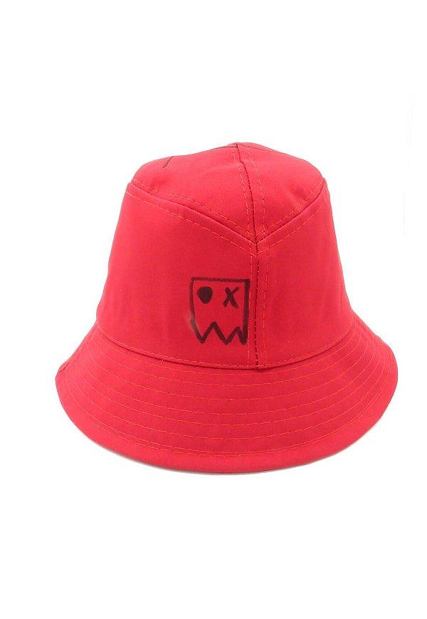 Chapeu bucket Dark Face Vermelho com desenhos - DKFBUCKET2