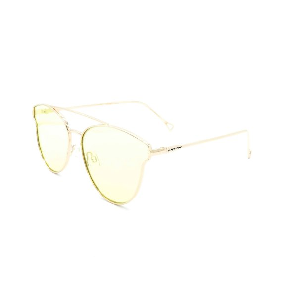 Óculos Solar Dark Face Dourado com lente espelhada polarizada - B88-391