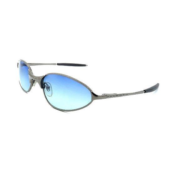 Óculos de Sol Retro Prorider Prata com Lente Degrade - AZP5