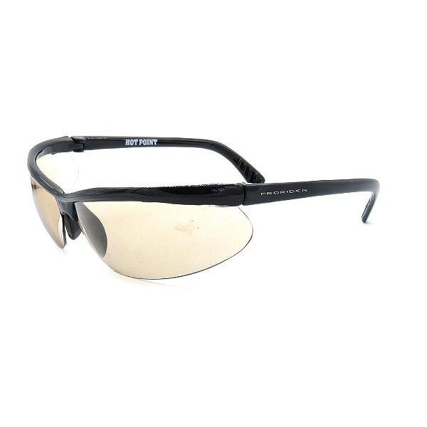 Óculos de Sol Retro Prorider Preto com Lente Marrom - HOT POINT