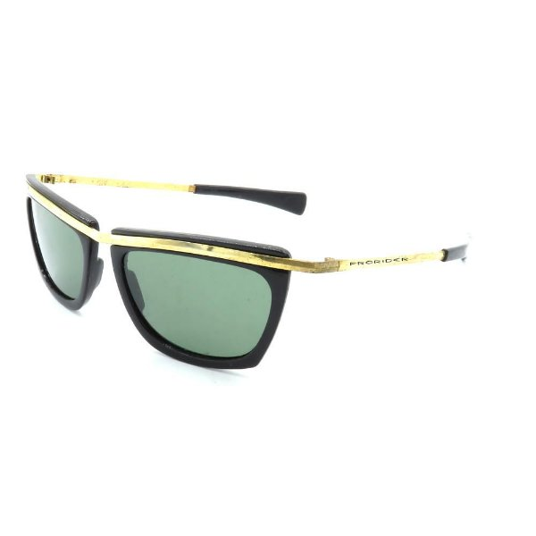 Óculos de Sol Retro Prorider Preto com Dourado - PTDOR8