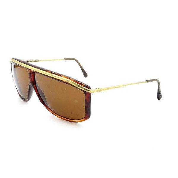 Óculos de Sol Retro Prorider Animal Print com Dourado - ROSSET