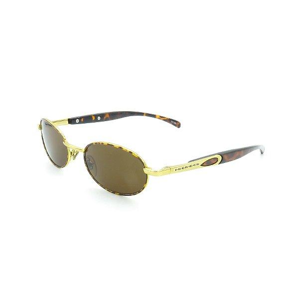 Óculos de Sol Prorider Retrô Dourado Animal Print - 20109