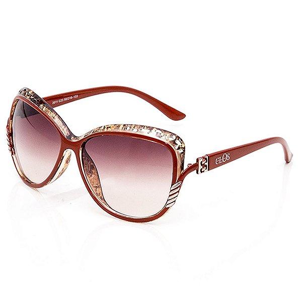 Óculos de Sol Clos Arredondado Vermelho