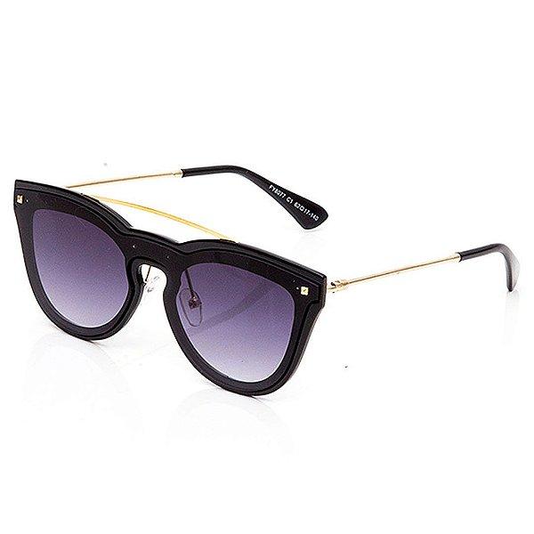 Óculos de Sol Clos Arredondado Preto