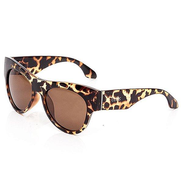 Óculos de Sol Clos Animal Print Marrom