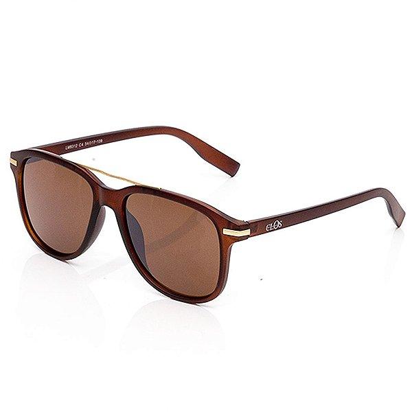 Óculos de Sol Clos Quadrado Marrom