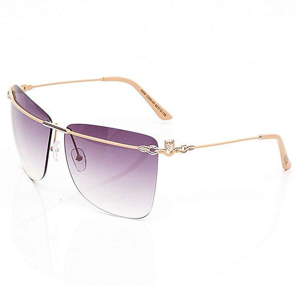 Óculos de Sol Clos Quadrado Bege