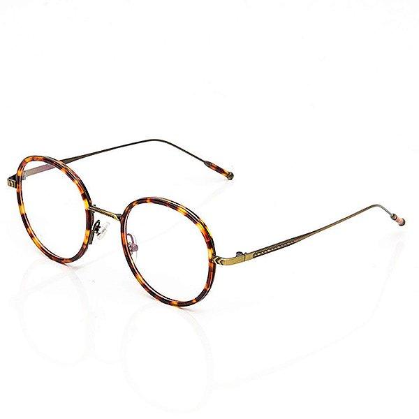 Óculos de Grau Clos Redondo Animal Print