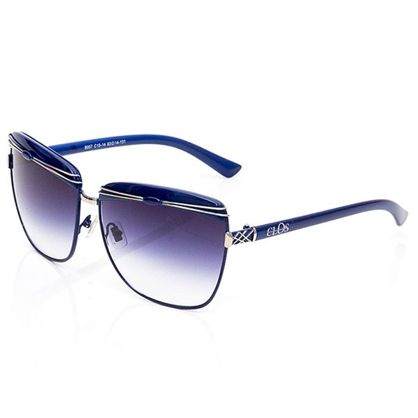 Óculos de Sol Clos Quadrado Azul Escuro