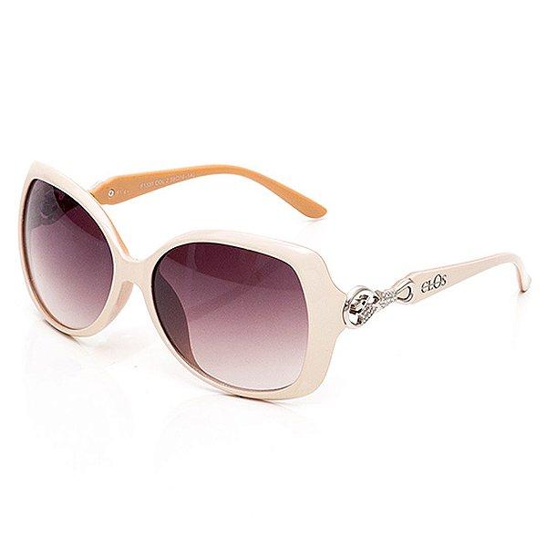 Óculos de Sol Clos Arredondado Bege