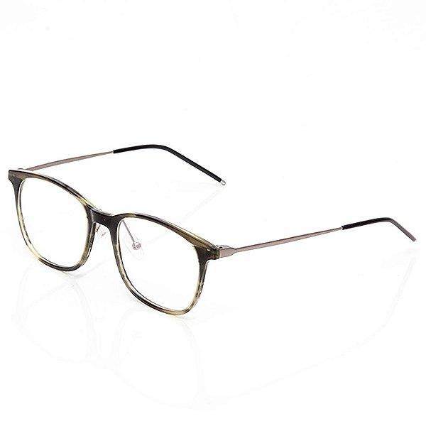 Óculos de Grau Clos Arredondado Esverdeado
