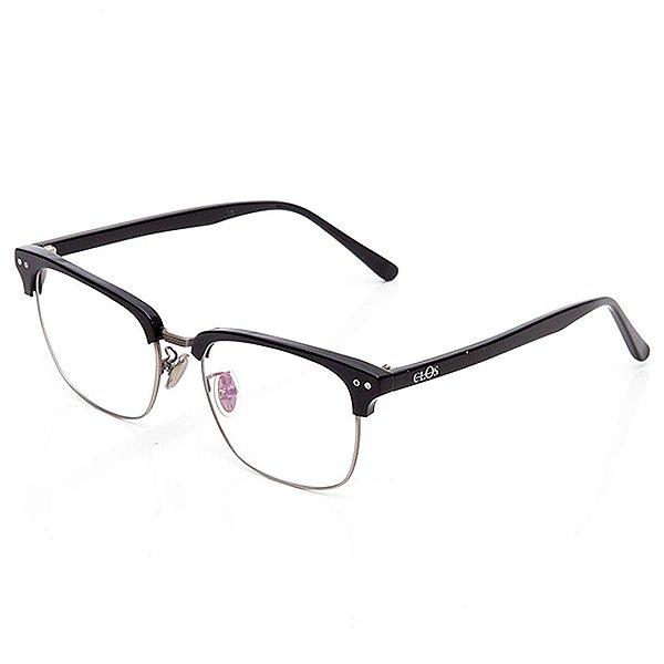 Óculos de Grau Clos Quadrado Preto