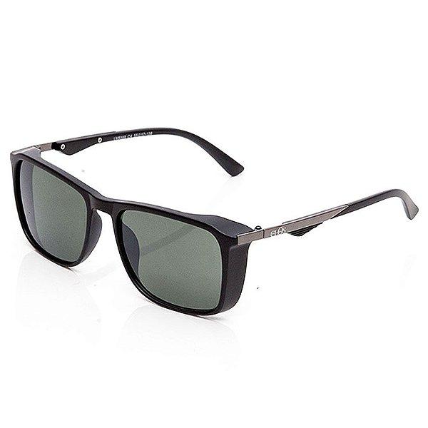 Óculos de Sol Clos Quadrado Preto Fosco