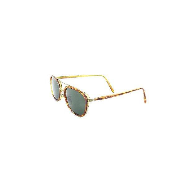 Óculos Solar Prorider Retro Dourado com Animal Print - ANID2