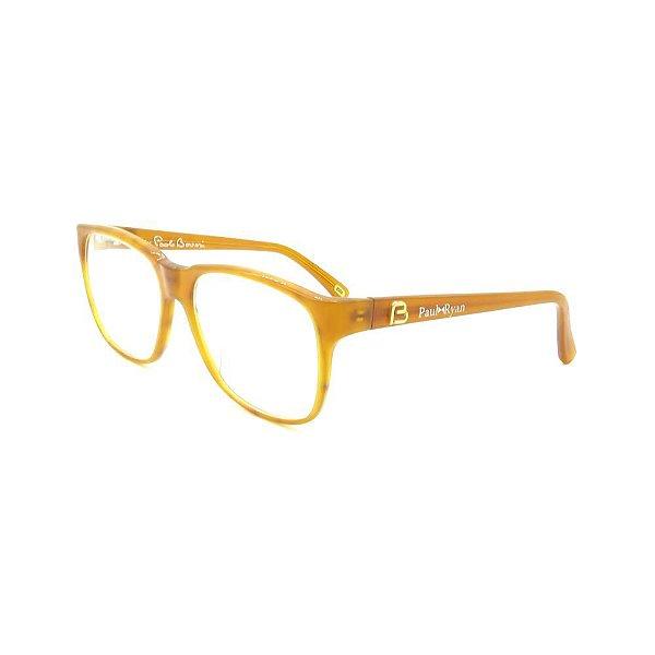 Óculos de Grau Retro Paul Ryan Laranja Translúcido - 8504