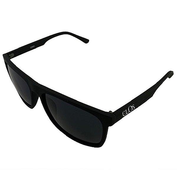Óculos de Sol OTTO em Grilamid® TR-90 Quadrado Preto Fosco - Cls 90