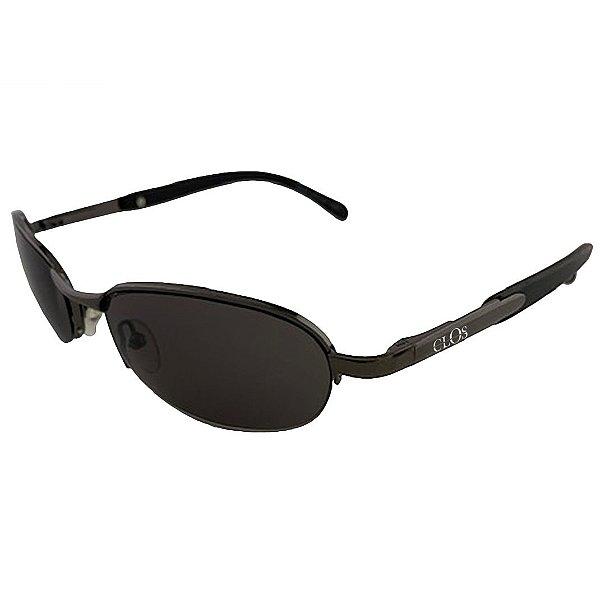 Óculos de Sol Clos em  Metal Monel®  Redondo Preto