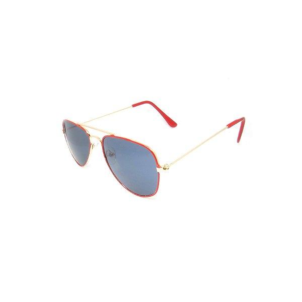 Óculos de Sol Prorider Infantil Dourado e Vermelho - 011
