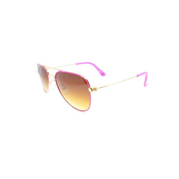 Óculos de Sol Prorider Infantil Dourado e Rosa - 10