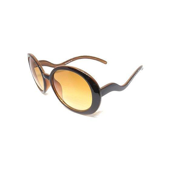 Óculos Solar Prorider Retro  Marrom com Lente Degradê Marrom -PRO0110