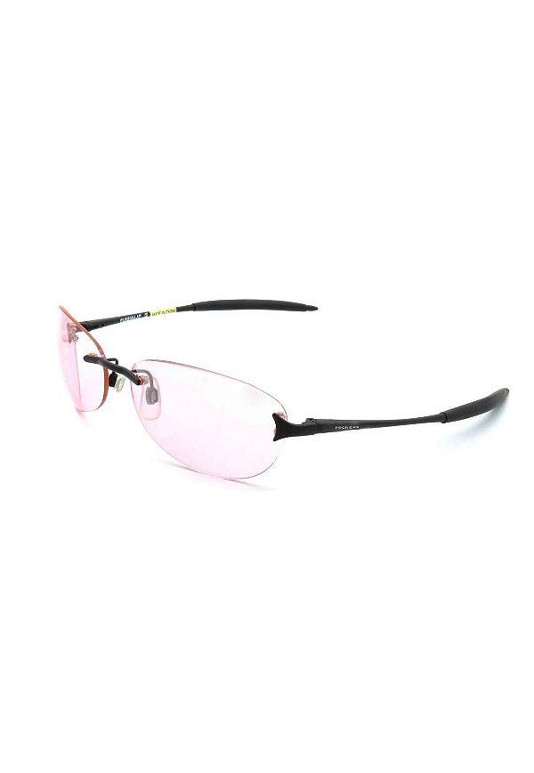 Óculos Solar Prorider retro preto com lente rosa - FUS8264R
