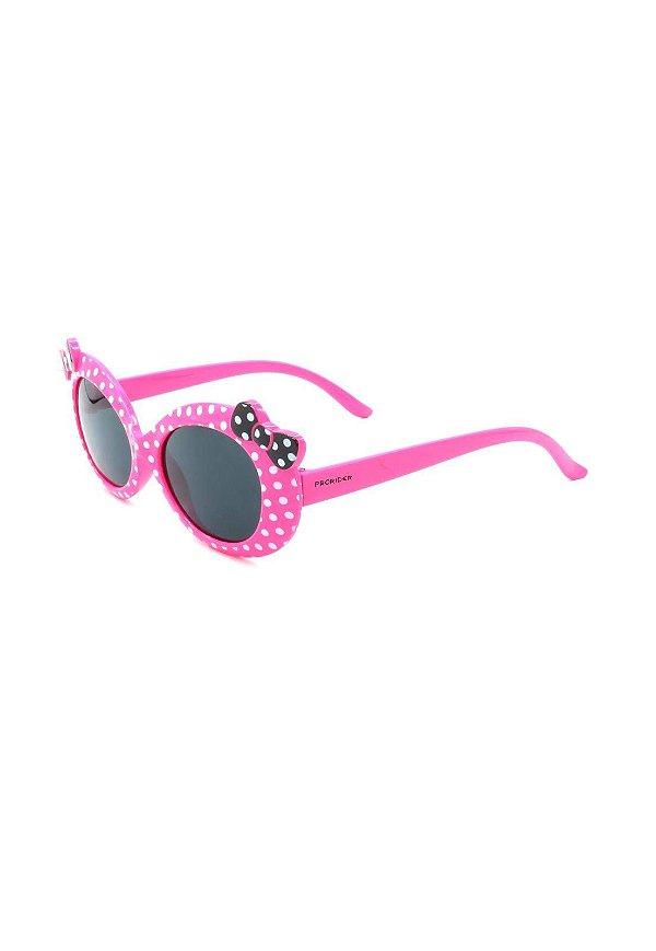 Óculos Solar Prorider Infantil Pink com lacinho preto e bolinhas brancas - ZXD023R