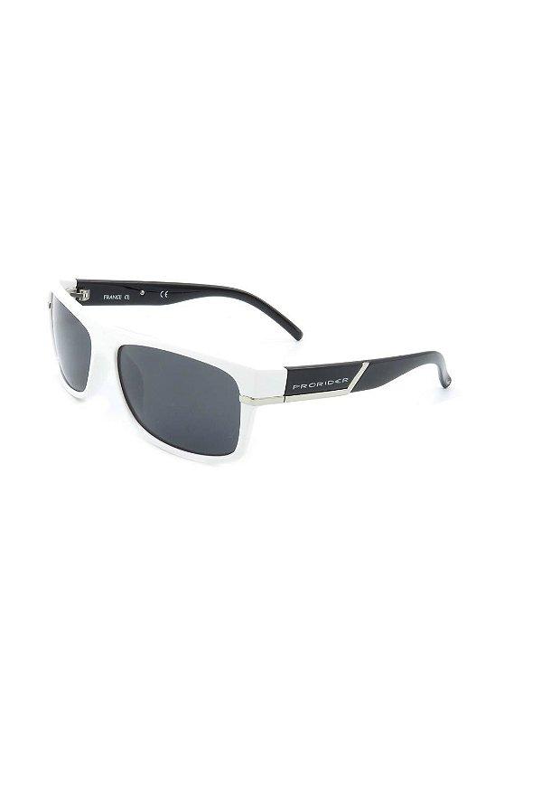 Óculos Solar Prorider Retro Branco e Preto com detalhes prata - YC2975 C2