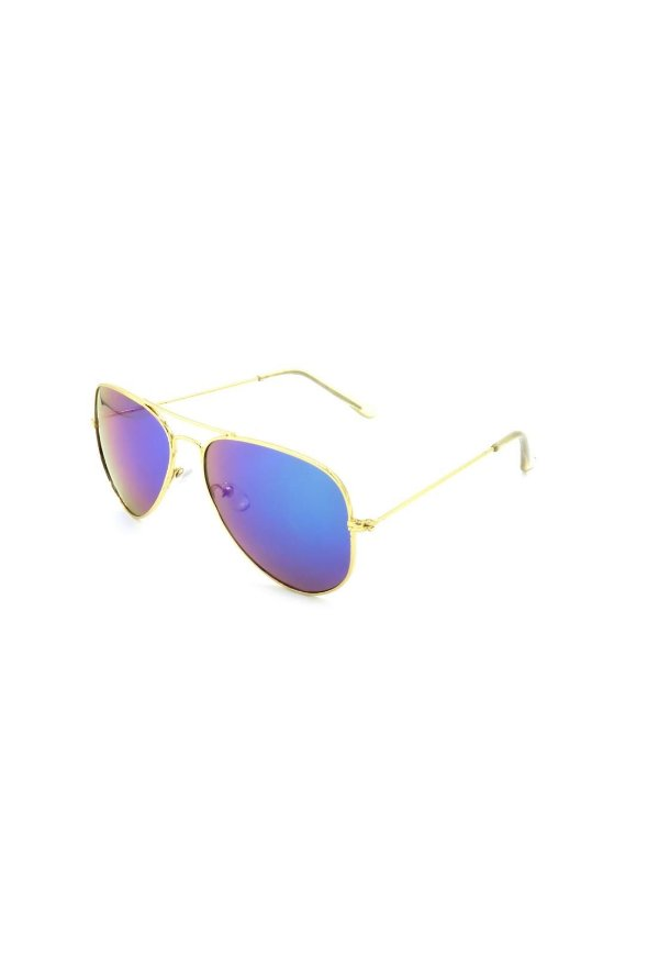 Óculos de Sol Prorider Aviador Dourado Com Lente Espelhada azul - H08019 C4