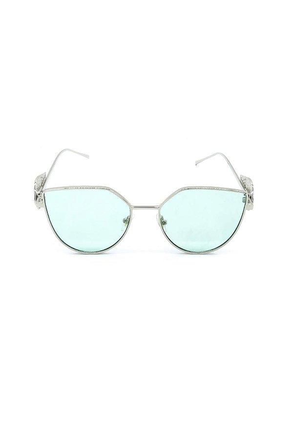 Óculos de Sol Prorider Dourado com Detalhes -  8277