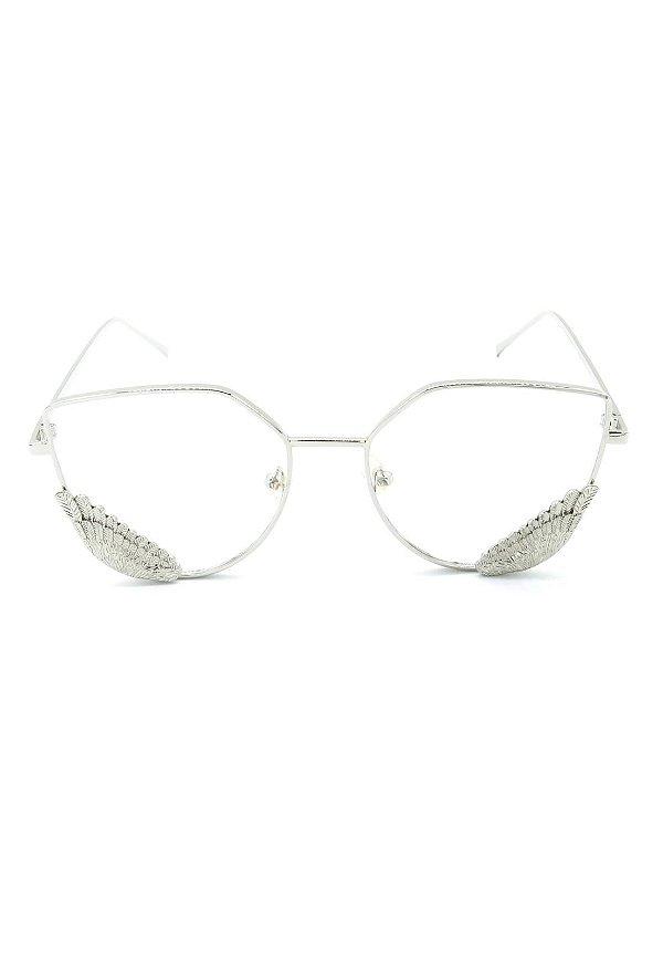 Óculos de Grau Prorider Prata com Detalhes - 8276