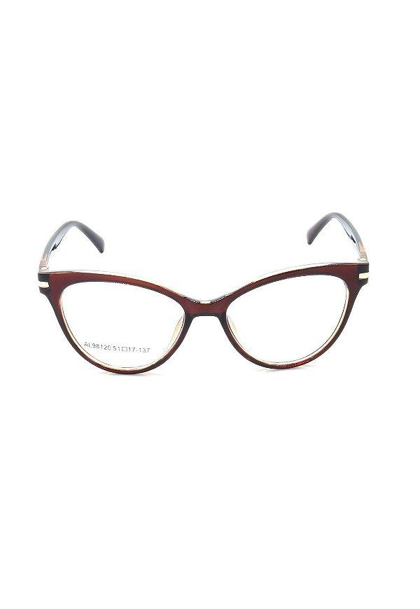Óculos de Grau Prorider Marrom Translúcido com Dourado - AL98120