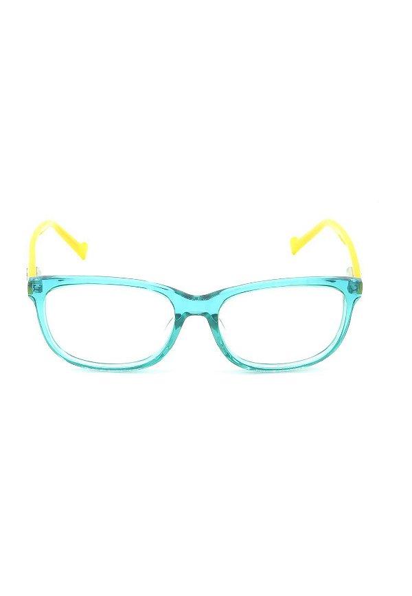 Óculos de Grau Prorider Azul Translúcido com Amarelo - AXG130015