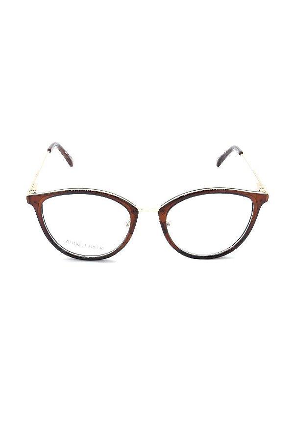 Óculos de Grau Prorider Marrom Translúcido com Dourado - ZD4142C5