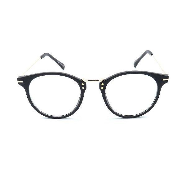 Óculos de Grau Prorider Preto Fosco com Dourado - CH5549