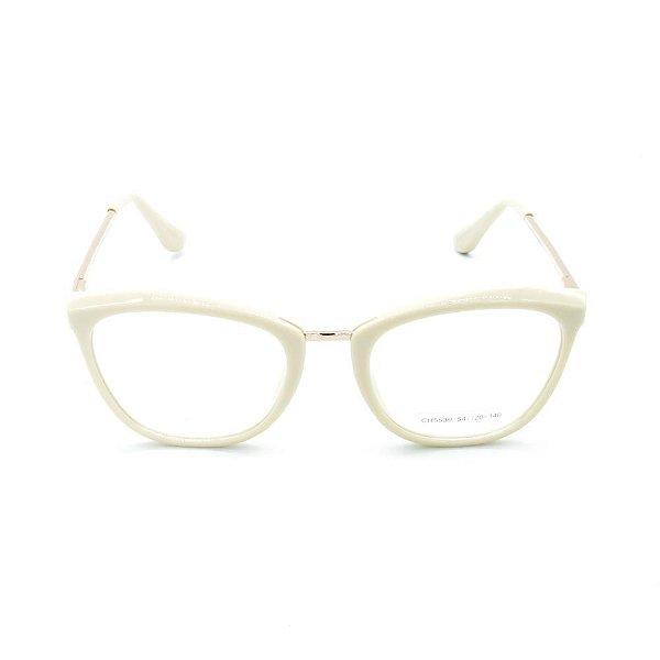 Óculos de Grau Prorider Bege com Dourado - CH5539