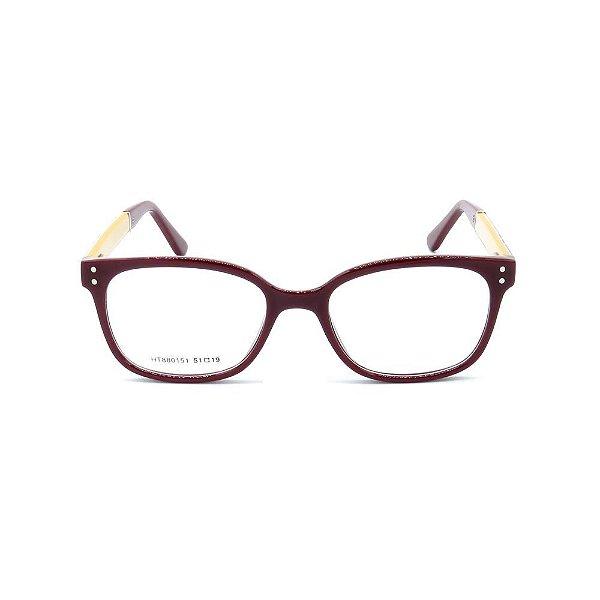 Óculos de Grau Prorider Vinho com Preto e Bege - HT880151