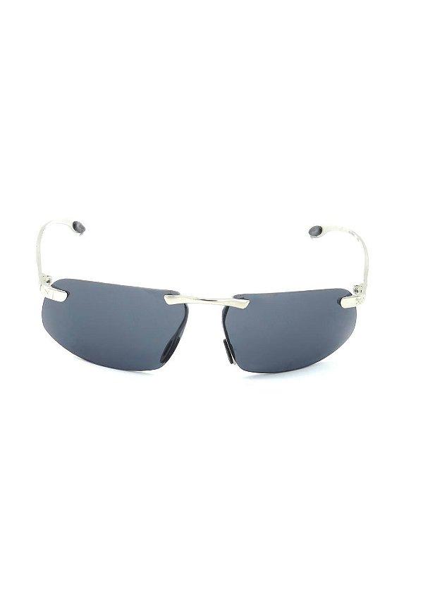 Óculos de Sol Retro Prorider Prata com Lente Fumê - INVISIBILE