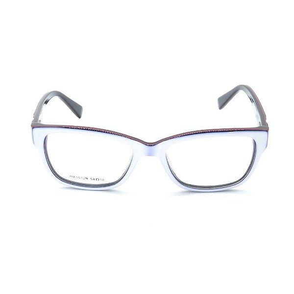 Óculos de Grau Prorider Branco com Preto - HX15129