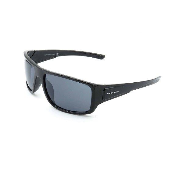 Óculos de Sol Prorider Preto Brilhante Detalhado com Lente Fumê - LL3100