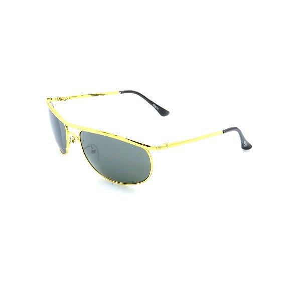 Óculos de Sol Prorider Dourado Brilhante com Lente Fumê - ODRBLUESKY