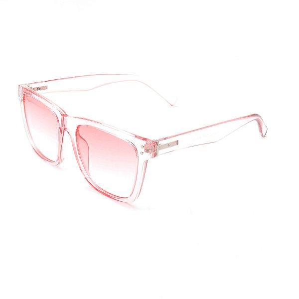 Óculos Solar Prorider Transparente Com Lente Rosa - FY8131
