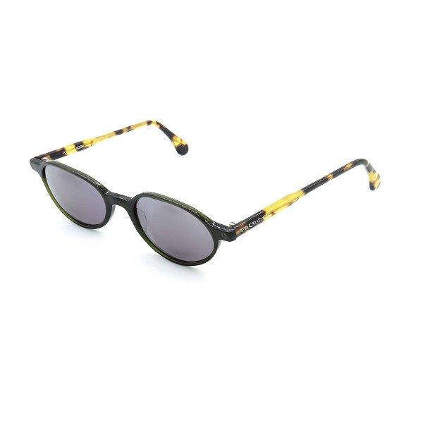 Óculos Solar Robert La Roche Retrô Preto e Amarelo Com Lente Fumê - BEE07122007
